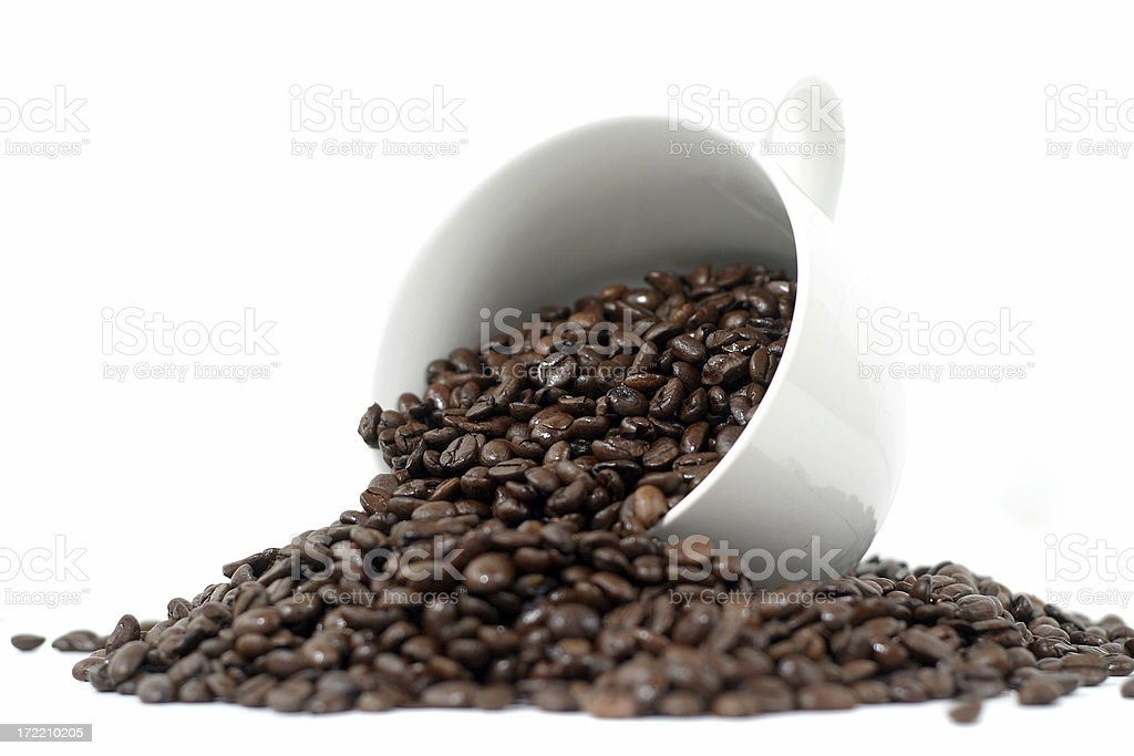 Spilled coffee royalty-free stock photo