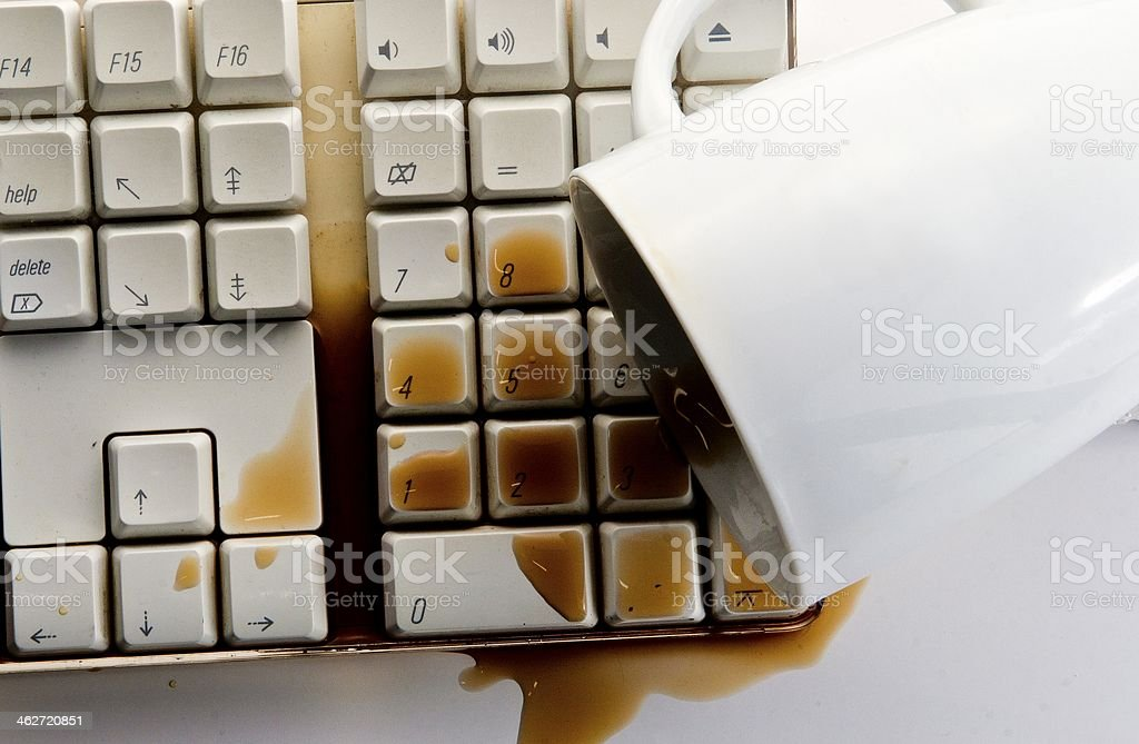 Spilled Coffee stock photo