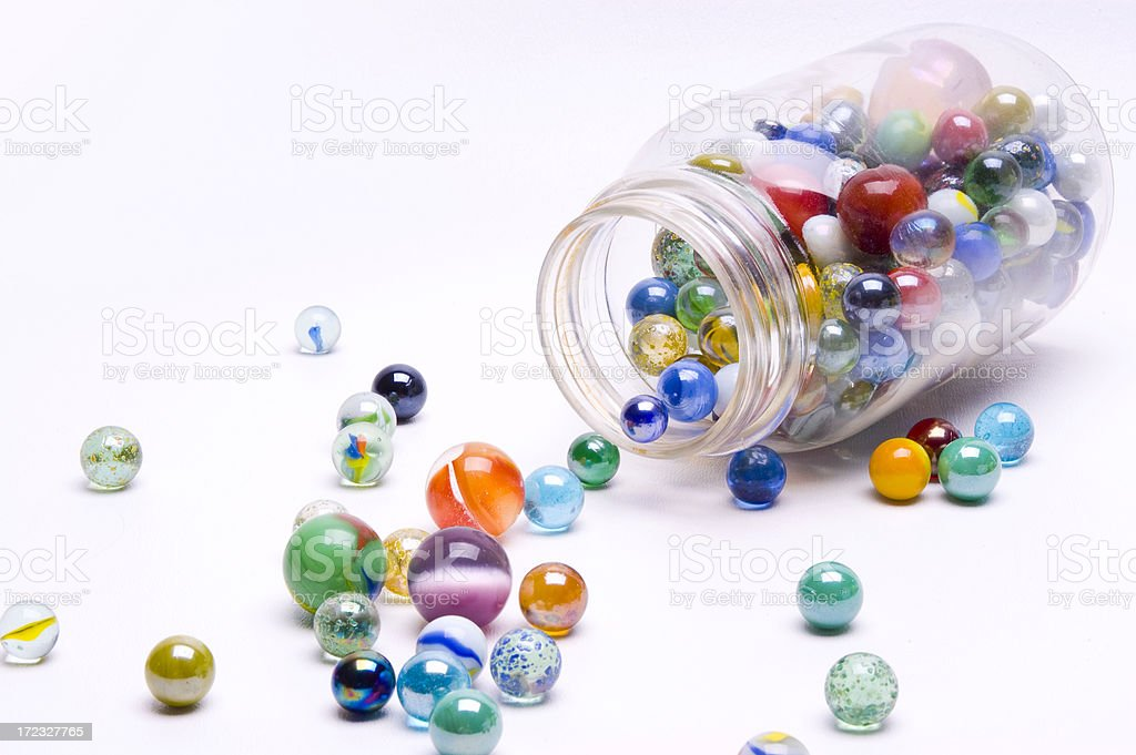 Spilled Marbles stock photo