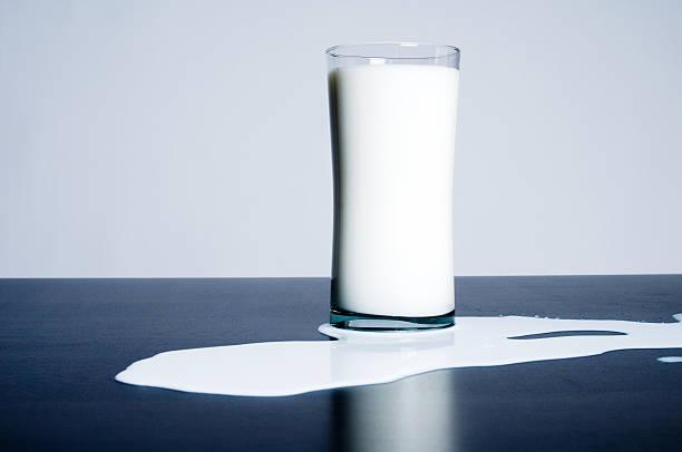 Spilled Milk stock photo