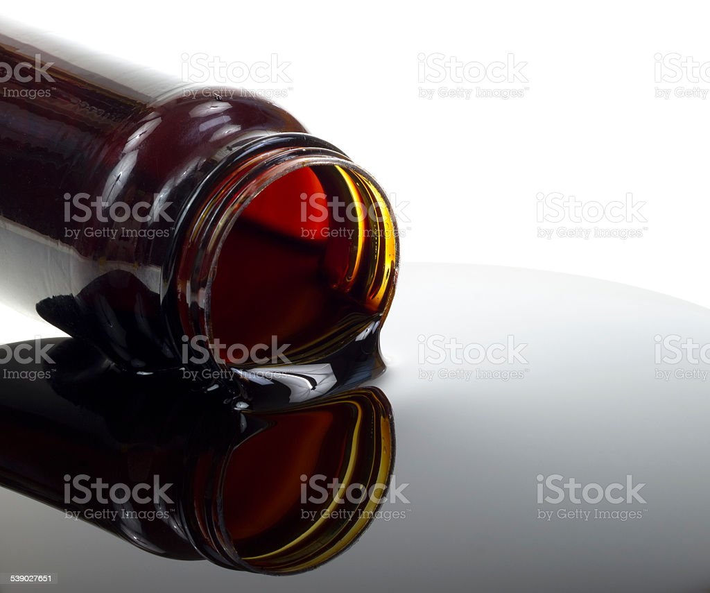Spilled molasses stock photo