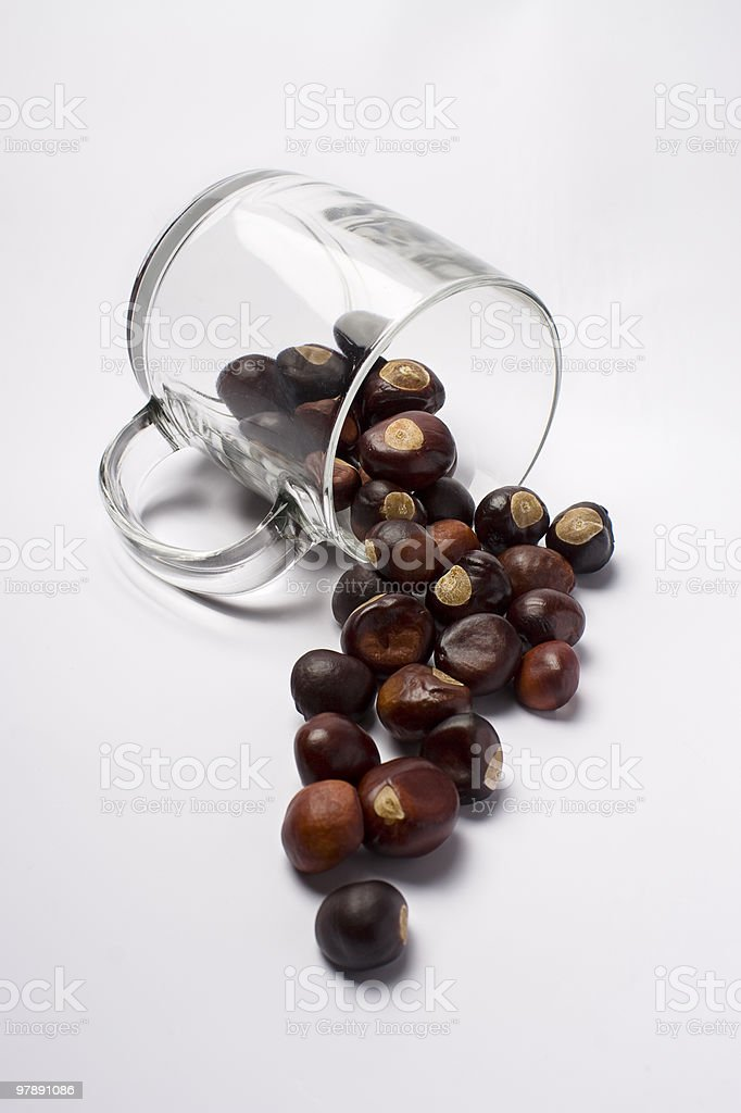 Spilled nuts royalty-free stock photo