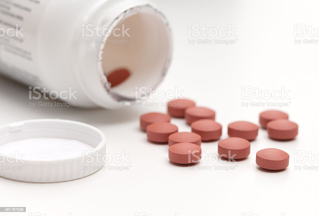 Spilled Pills stock photo