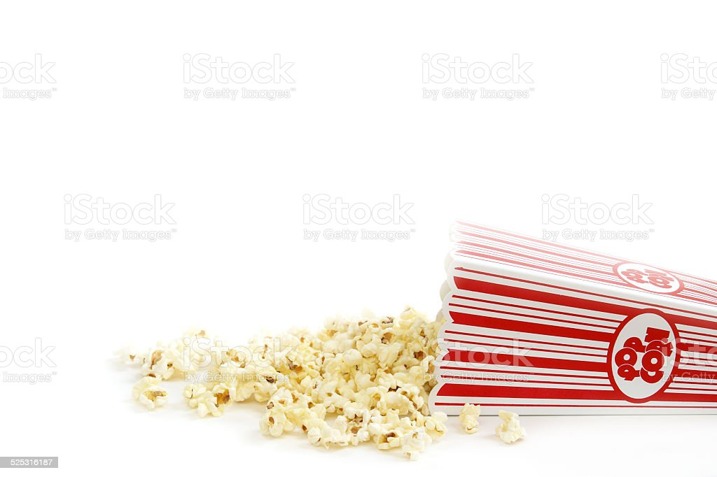 Spilled Popcorn stock photo