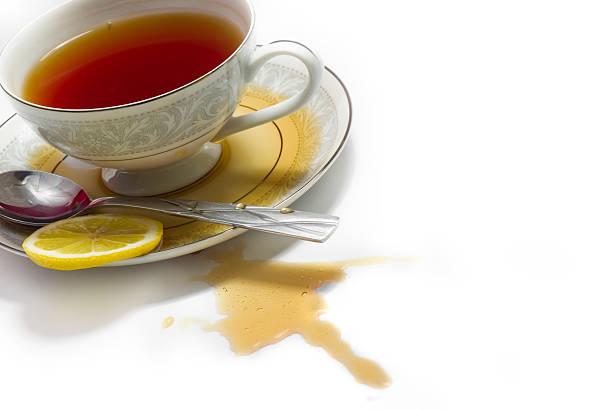 Spilled Tea stock photo