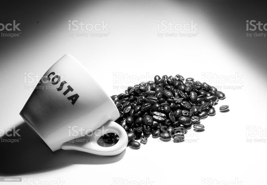 Spilled the Beans stock photo