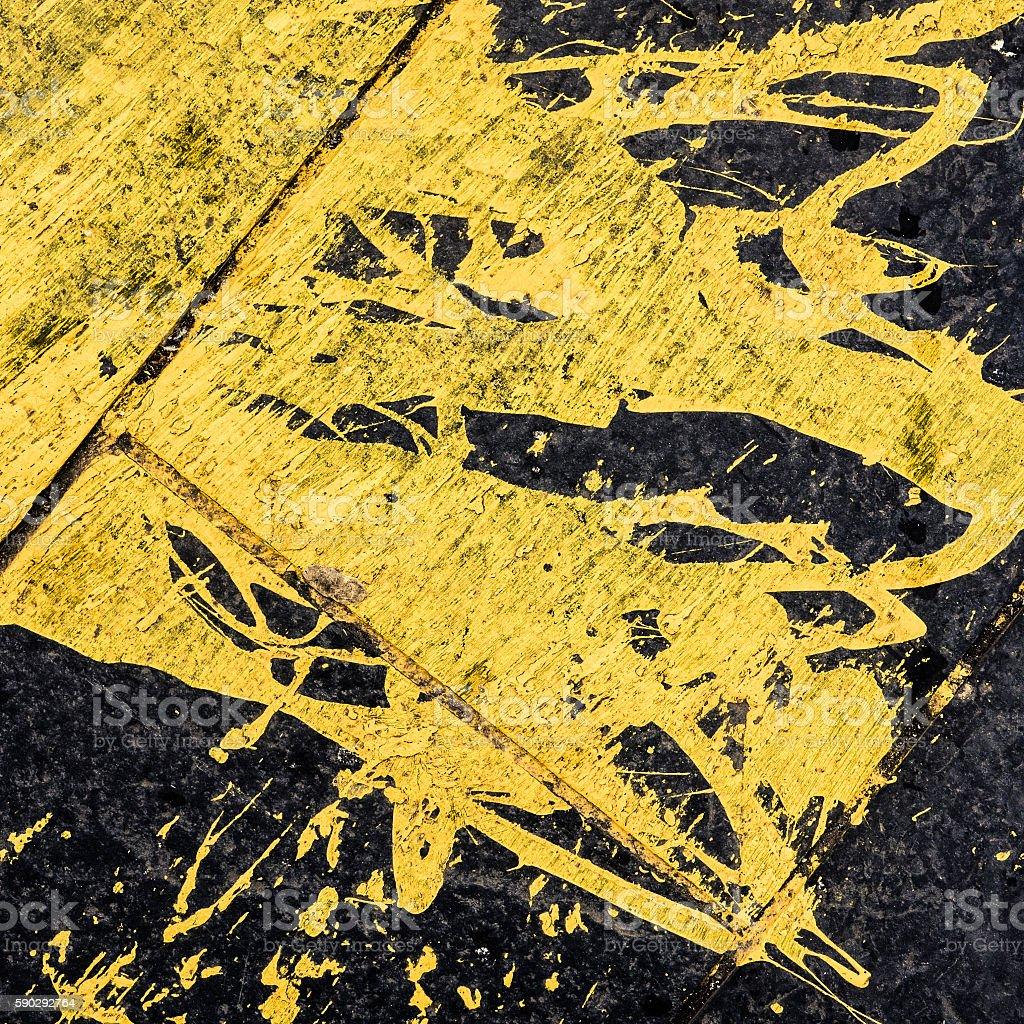 Spilled Yellow Paint Background royaltyfri bildbanksbilder