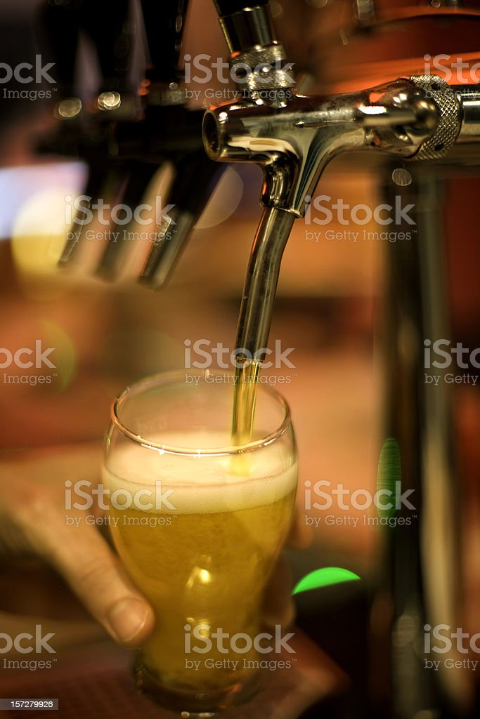 Spilling beer royalty-free stock photo