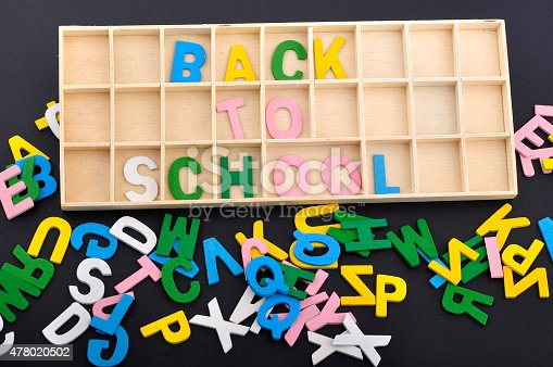 istock Spilling Colorful Alphabets  with