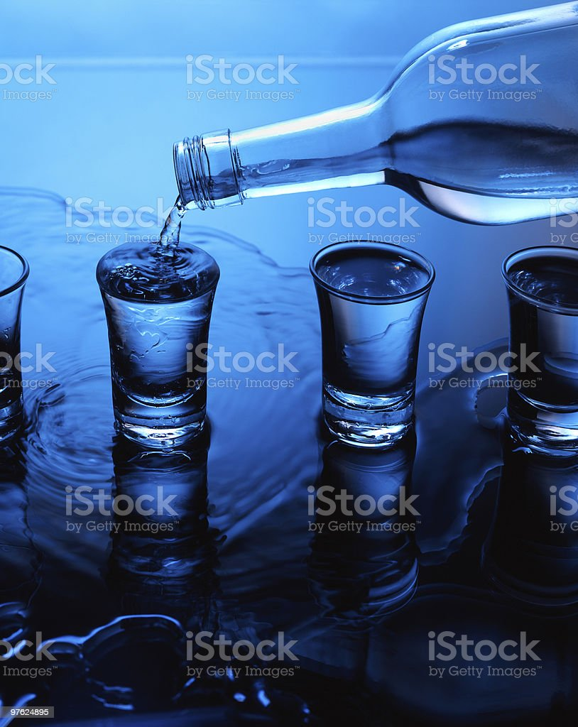 Spilling Liquid royalty-free stock photo
