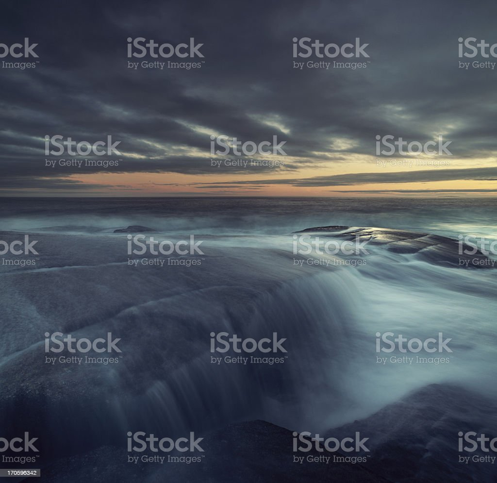 Spilling over the Point royalty-free stock photo