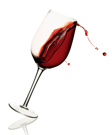 istock Spilling Wine - Isolated 104873890