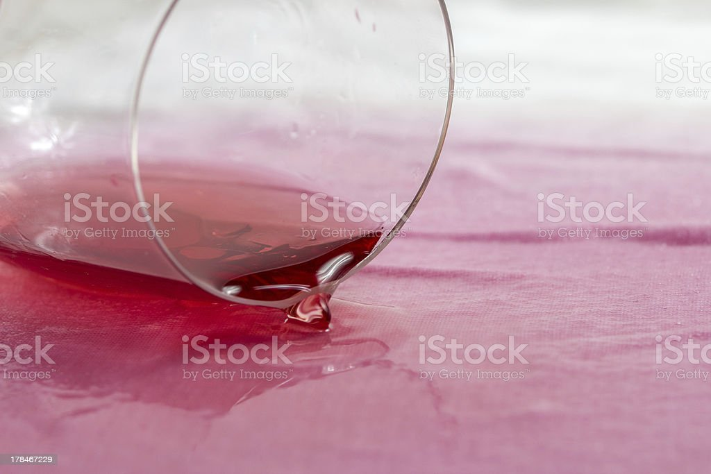 spilling wine royalty-free stock photo
