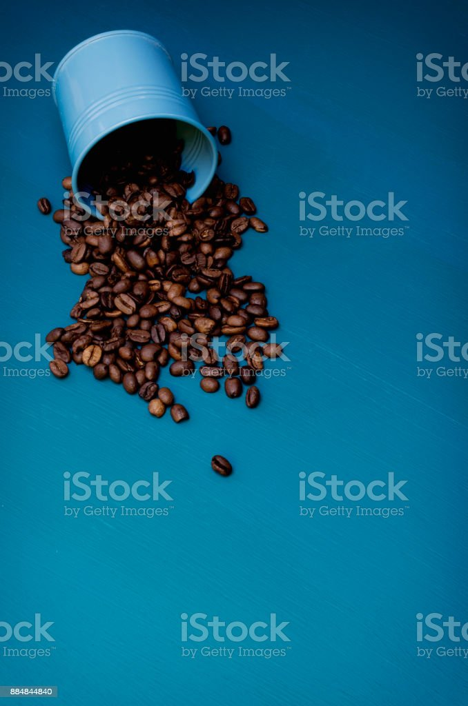 Spilt Coffee Beans stock photo
