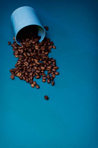 Spilt Coffee Beans stock photo