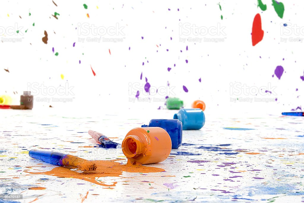 Spilt Paint royalty-free stock photo