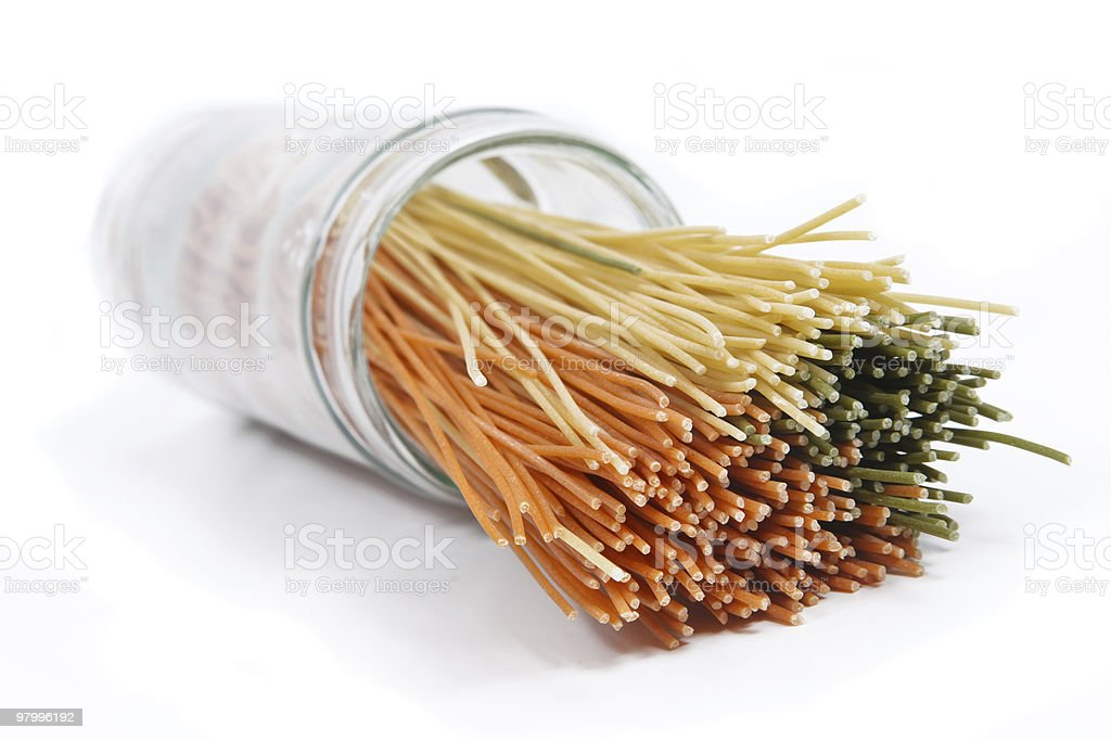 spilt spaghetti royalty-free stock photo