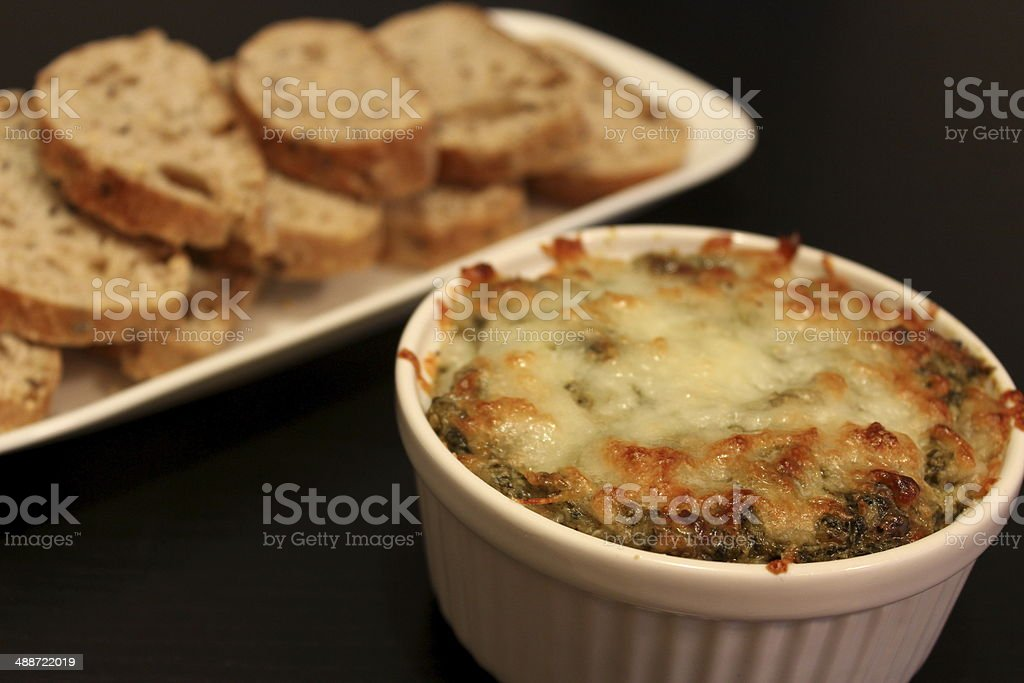 Spinach Artichoke Dip stock photo