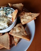 Spinach Artichoke Dip with pita chips
