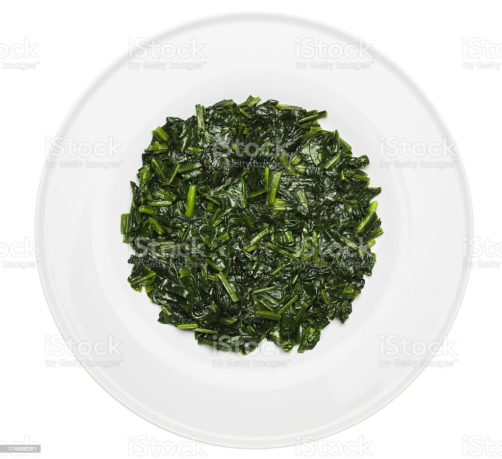 Spinach dish stock photo