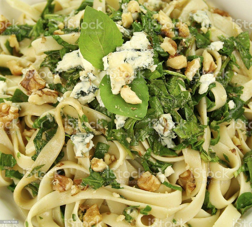 Spinach Fettucini royalty-free stock photo