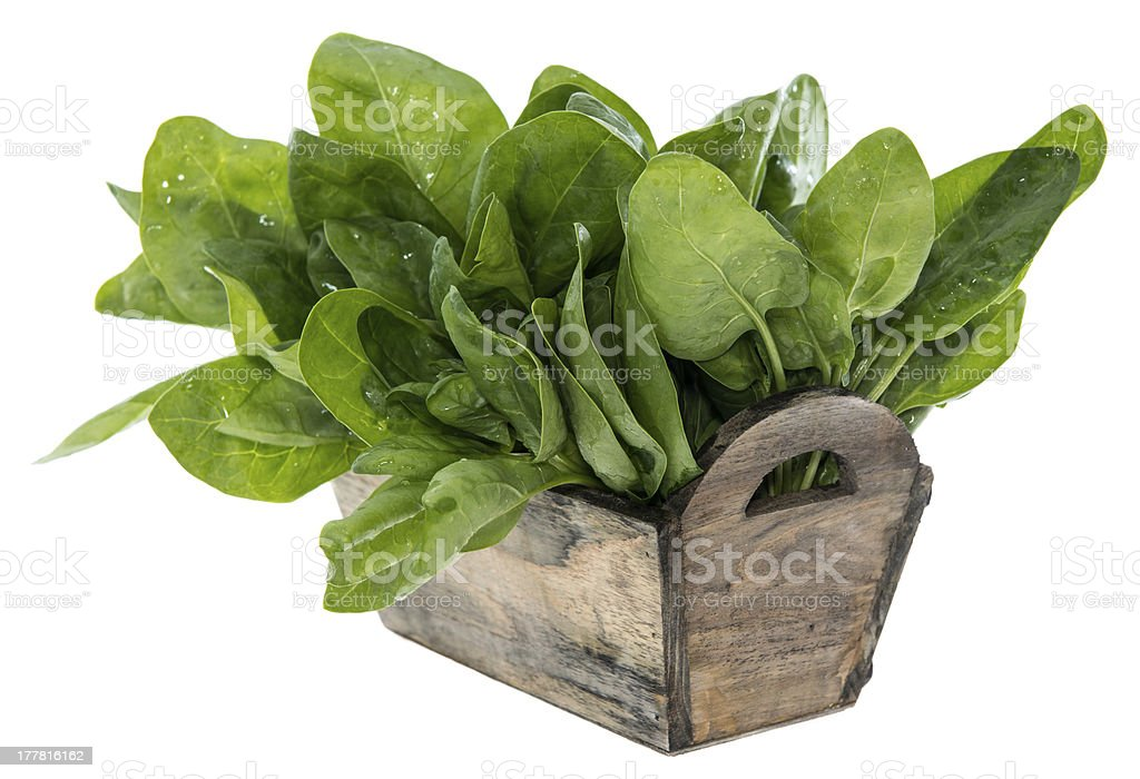 Spinach Leaves isolated on white royalty-free stock photo