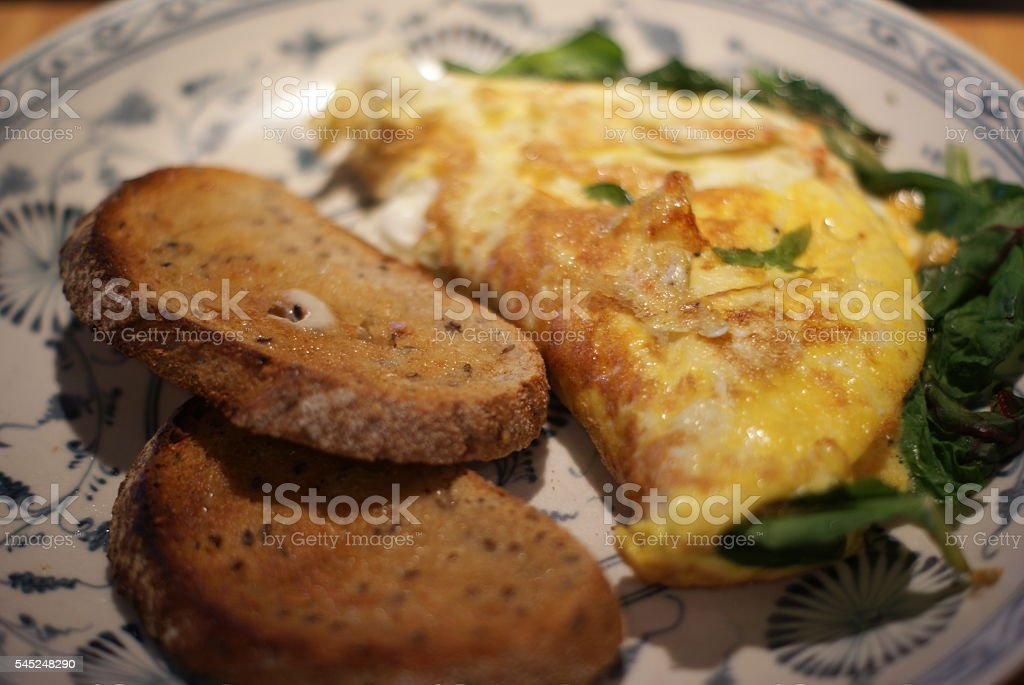 Spinach Omelette stock photo