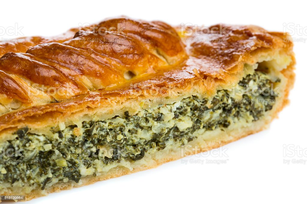 Spinach pie stock photo