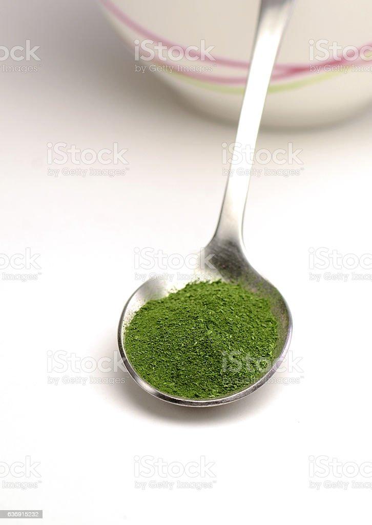 Spinach Powder stock photo