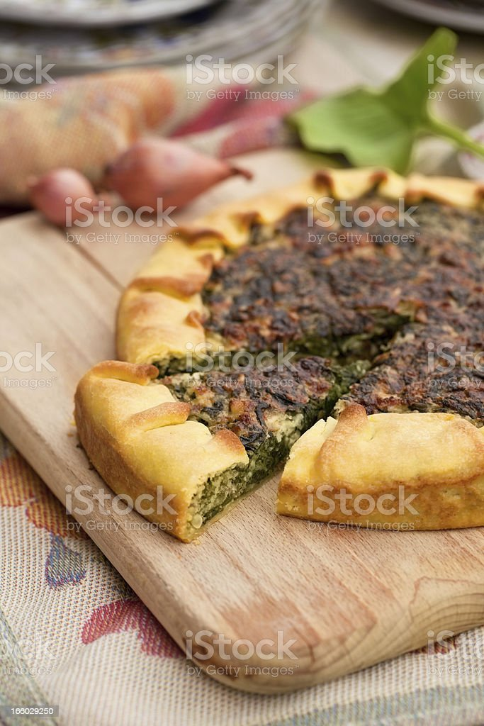 spinach quiche royalty-free stock photo