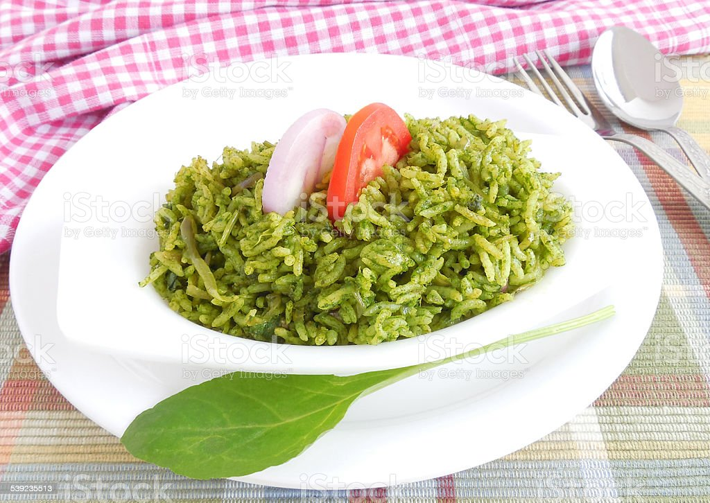 Spinach Rice royalty-free stock photo