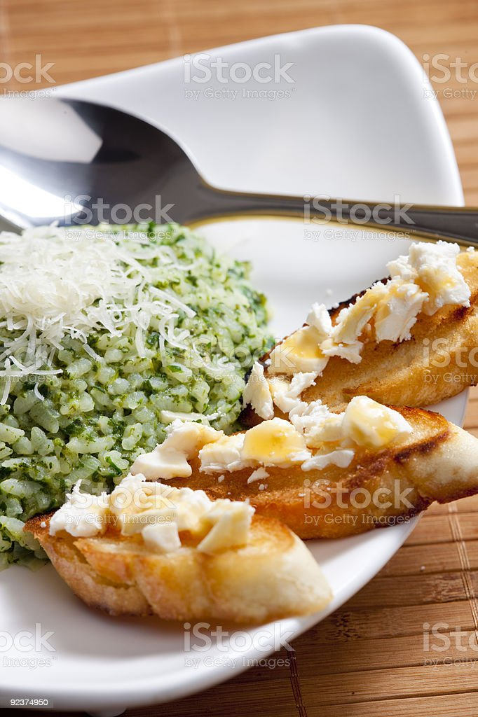 spinach rissoto royalty-free stock photo