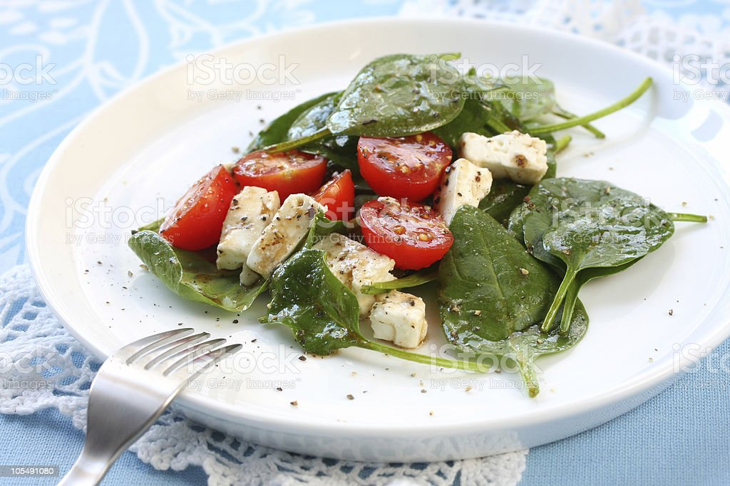 Spinach Salad royalty-free stock photo
