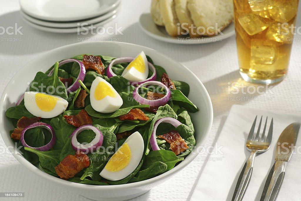 Spinat-Salat Lizenzfreies stock-foto