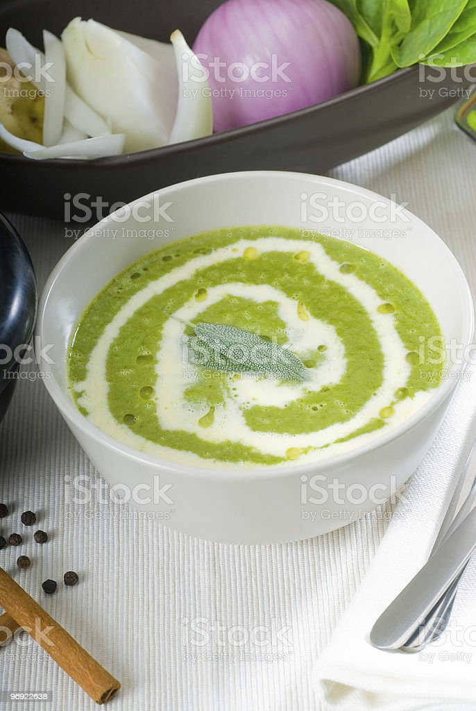 spinach soup royalty-free stock photo