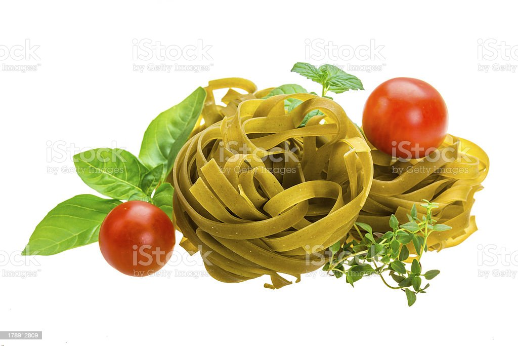 Spinach tagliatelle royalty-free stock photo