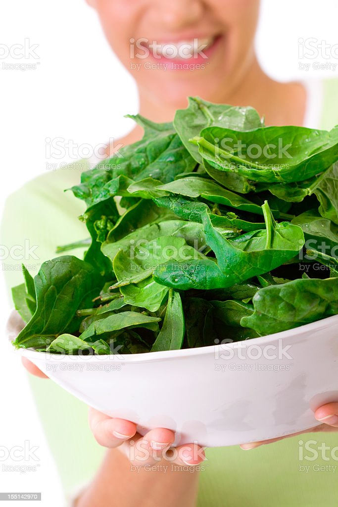 spinach time royalty-free stock photo