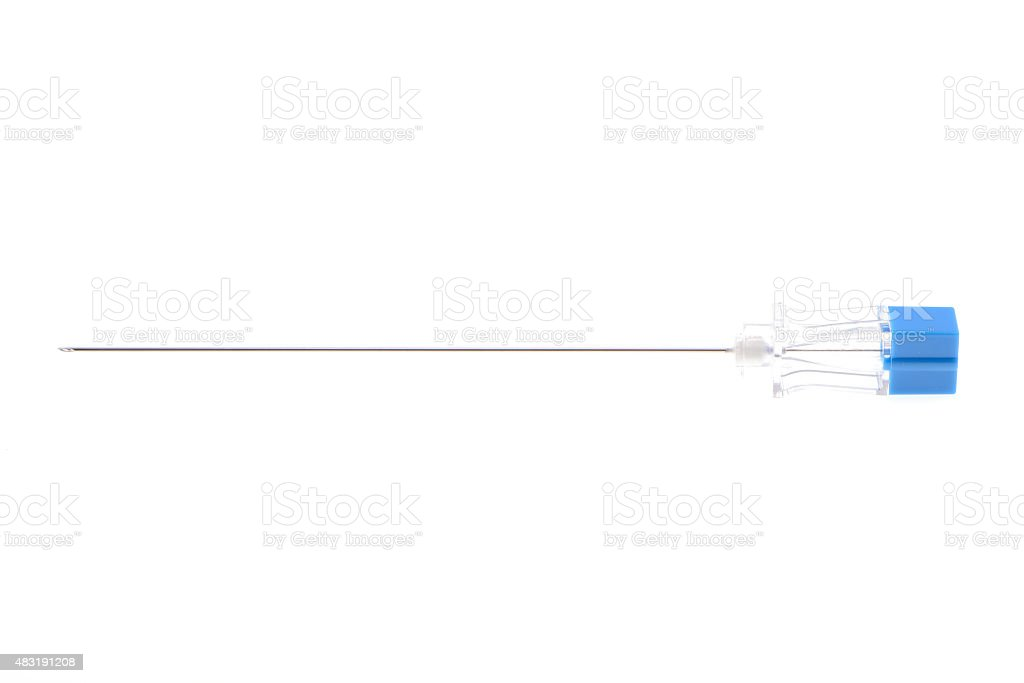 Spinal needle,medical equipment stock photo
