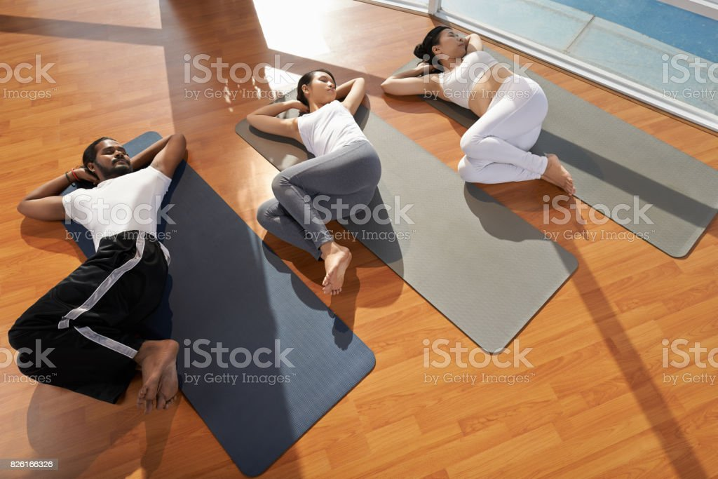 Spinal twist stock photo