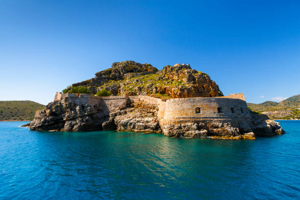 Spinalonga, Crete. stock photo