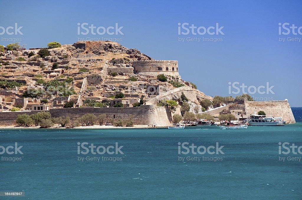 Spinalonga Island Greece stock photo