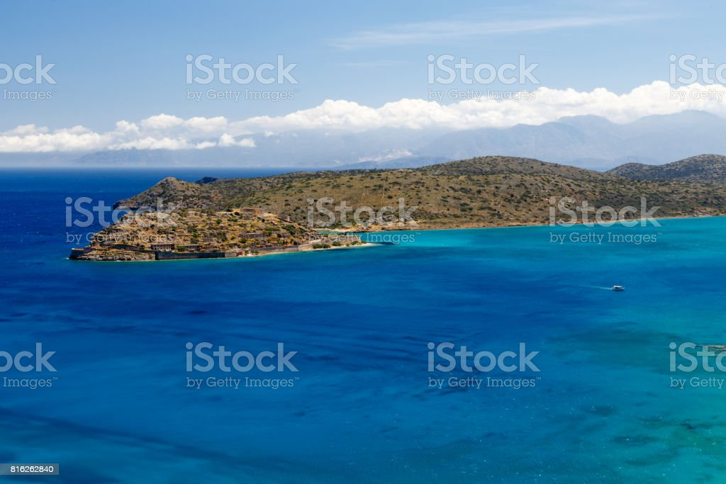 Spinalonga Island stock photo