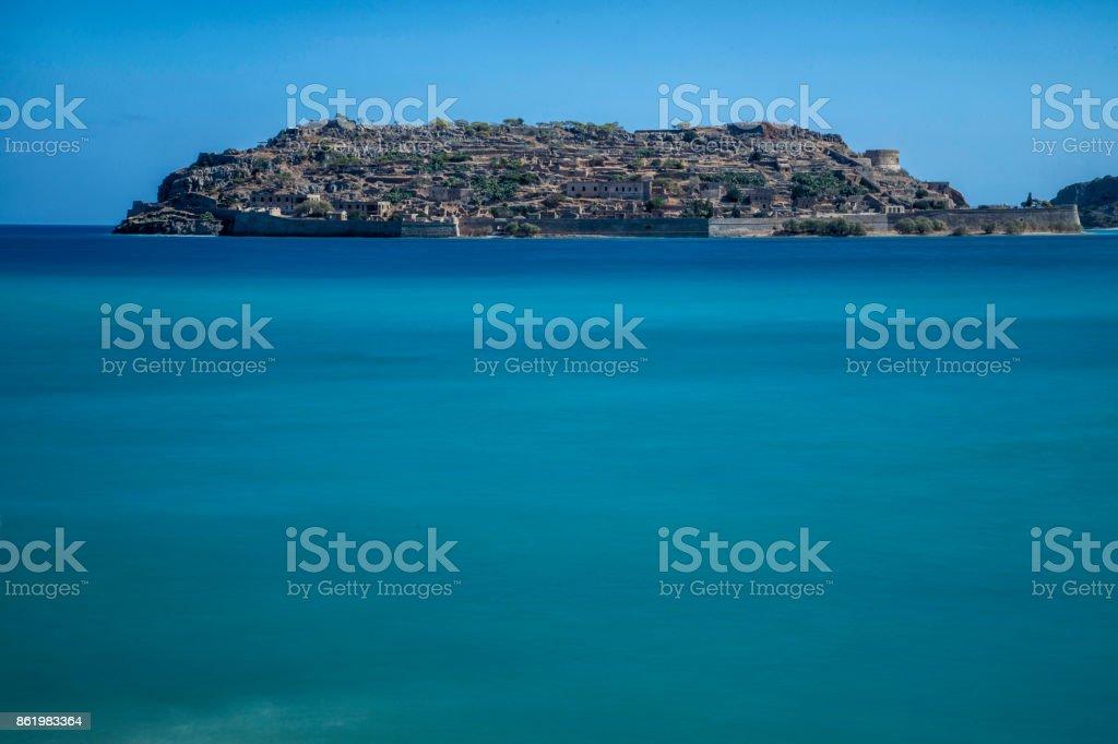 Spinalonga island stock photo