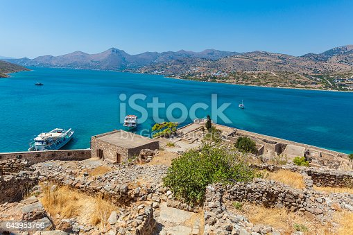 Spinalonga Island with Medieval Fortress, Crete, Greece