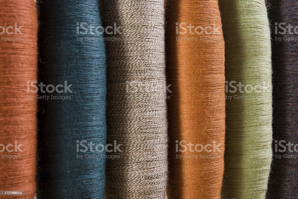 Spindles in a Row stock photo