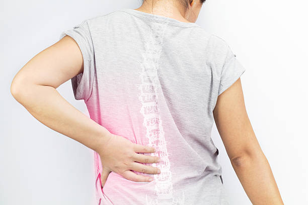 spine bones injury stock photo