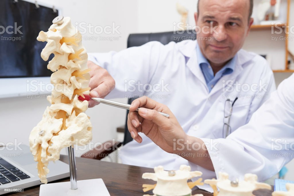 Spine inflammation stock photo