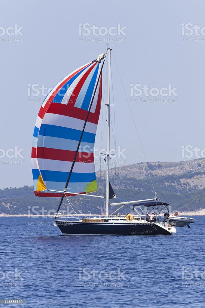 spinnaker royalty-free stock photo