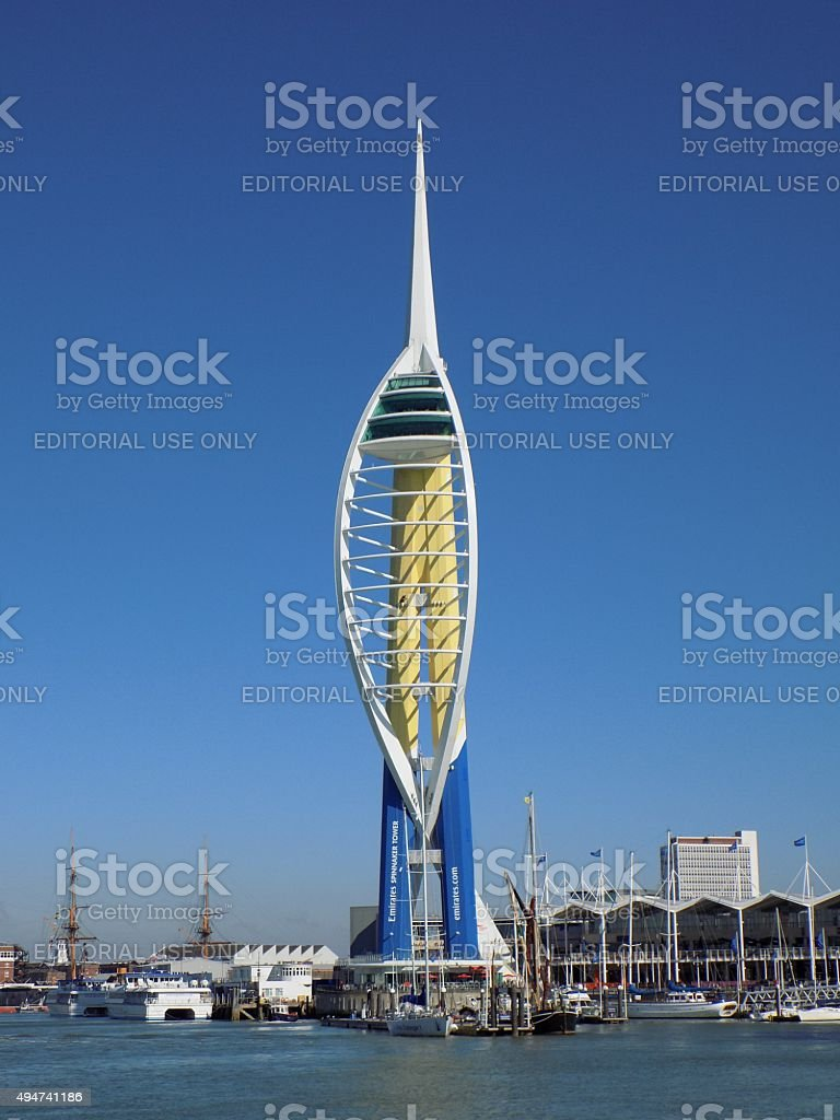 Spinnaker Tower stock photo