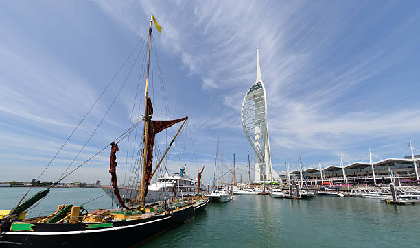 Spinnaker Tower & Portsmouth Harbour stock photo